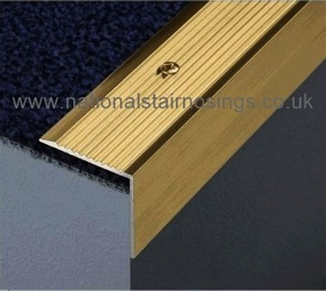 Rubber Stair Nosing For Tile by 30x30mm Solid Polished Brass Stair Nosing Step Edging 2