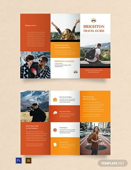 travel brochure template  students word