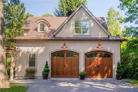true  top arched door garage traditional  copper