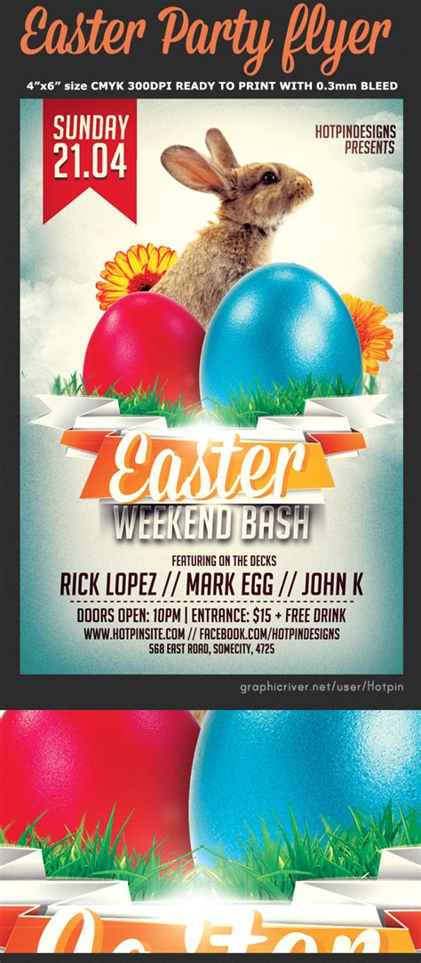 easter party flyer template flyerstemplates