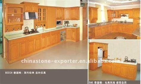 cuisine en hetre massif hêtre massif bois armoires de cuisine de kc02 armoire de