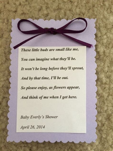 baby shower favor flower seed packet baby showers