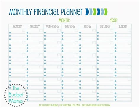 monthly financial planning jessi fearon