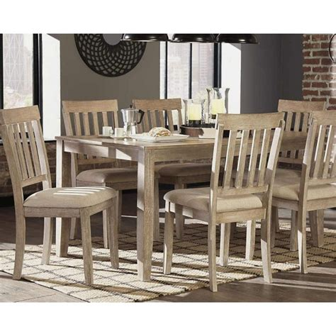 mattilone white wash gray pcs dining room set