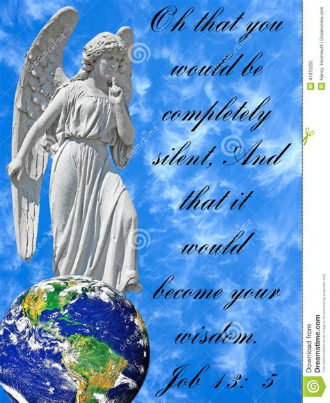 Conceptual Image Of Angel With Bible Verse Stock Photo ...