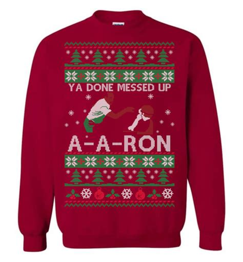 ron swanson ugly sweater ya done messed up a a sweater the wholesale t shirt co