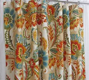 Orange And Teal Patterned Curtains Archives
