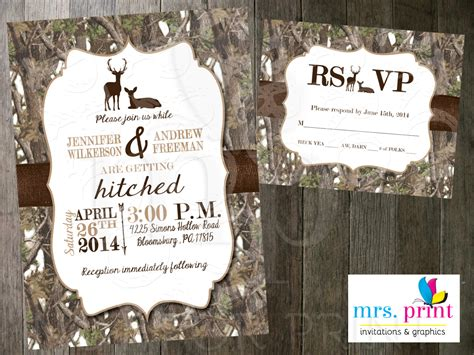 camo wedding invitations white camo deer wedding invitation and rsvp card by mrsprint