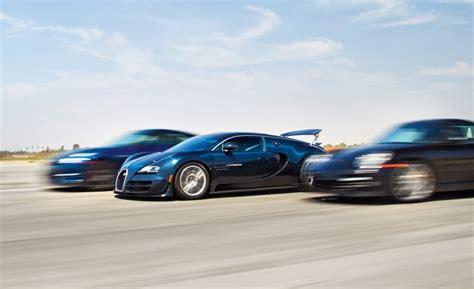 Bugatti Veyron Vs. Porsche 911 Turbo S Vs. Nissan Gtr