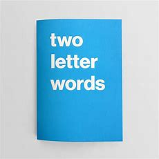 Book Of Two Letter Words  Journal  Nothing Major