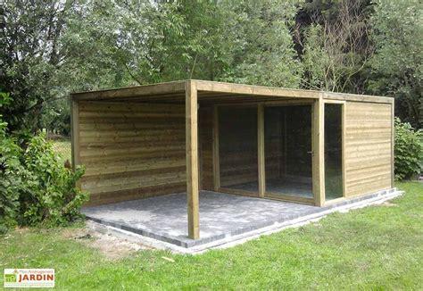 abri en bois abri de jardin bois exterior 350x350x230 gardival