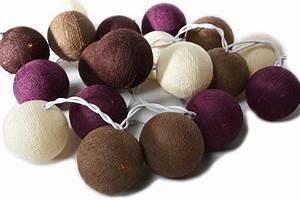 Guirlande Boule Lumineuse : guirlande lumineuse de boules de coton chiang mai guirlandes lumineuses boules de coton ~ Teatrodelosmanantiales.com Idées de Décoration