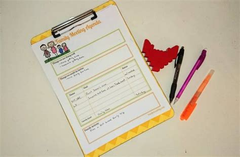 Meeting notes template printable, meeting agenda template, meeting minutes, meeting planner, work planner , planner pages, pdf download. How To Have A Family Meeting Template Included