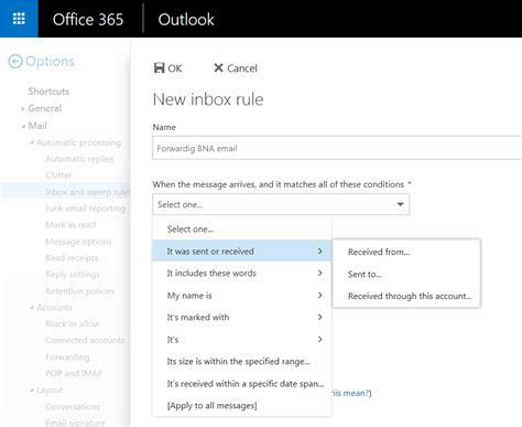 Office 365 Outlook How To Add Signature by How To Forward Email Of A Specific Sender In Owa Step By