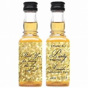 gold glitter personalized mini liquor bottle labels 10 With custom mini liquor bottle labels