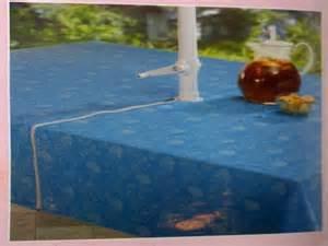 patio tablecloths with umbrella hole rectangular patio
