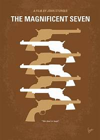 magnificent artistic wall art No197 My The Magnificent Seven Minimal Movie Poster Digital Art by Chungkong Art