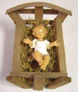 jesus christmas crib statue set buy fontanini jesus with crib figurine on popscreen