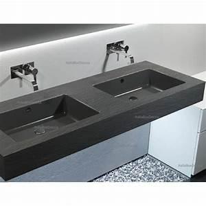 Relax Design Top con Doppio Lavabo Integrato in Marmo Resina