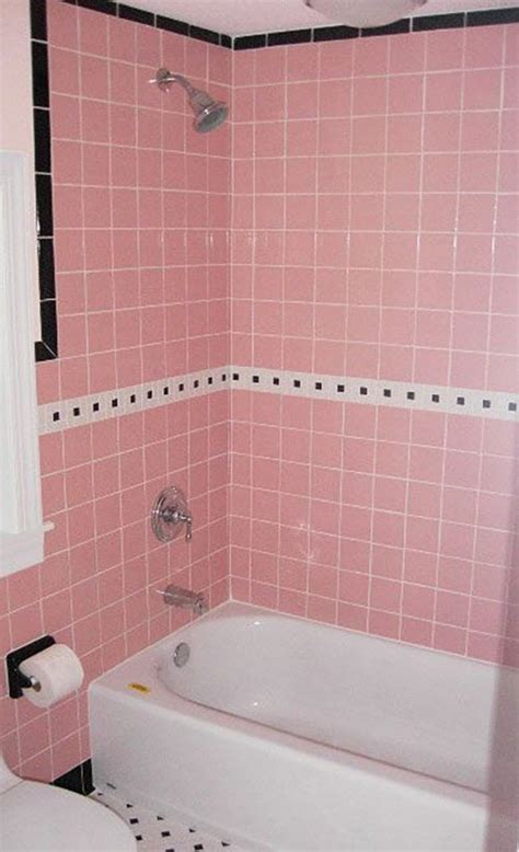 Badezimmer Fliesen Rosa by 34 4x4 Pink Bathroom Tile Ideas And Pictures
