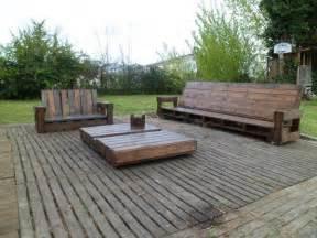Meuble Exterieur En Palette De Bois by Salon De Jardin En Palette De Bois Bricobistro