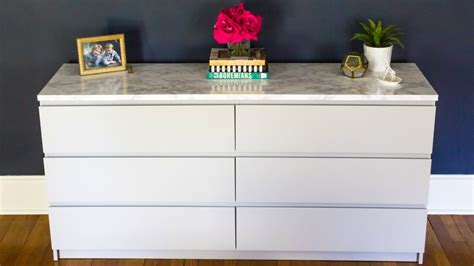 desk in small bedroom how to makeover your ikea malm dresser with a marble top a home to grow in