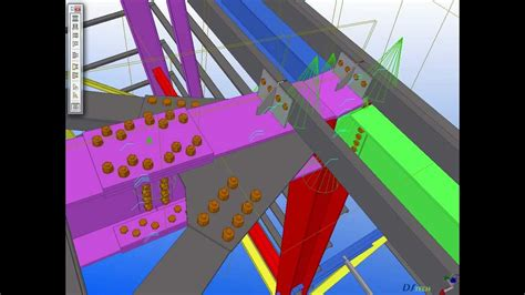 tekla structures auto connections shelter youtube