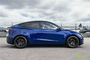 Deep Blue Metallic Tesla Model Y Performance with Ecliptic Black 20 in – T Sportline - Tesla ...