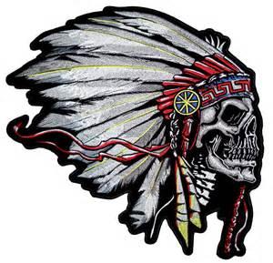 Native American Indian Chief Headdress Skulls
