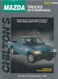 old cars and repair manuals free 1987 mazda b series auto manual 1987 1993 mazda trucks b2200 b2600 mvp navajo chilton total car care manual