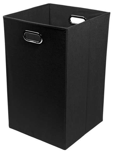 smarty pants solid black folding laundry basket modern