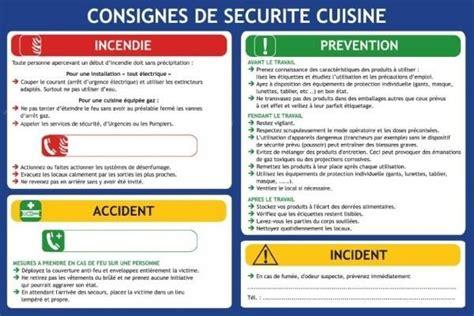 sécurité cuisine consigne de securite en cuisine plan d 39 évacuation cuisine