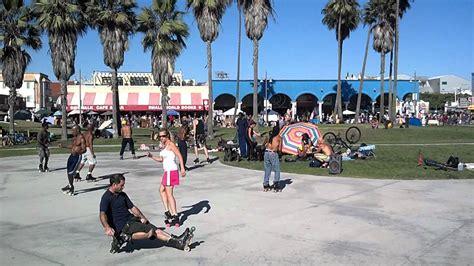 Roller Skating In Venice Beach, Ca