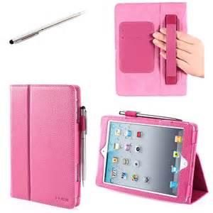 iPad Mini Case, i-Blason Apple iPad Mini 3 Case [2014 Release with Touch ID] Compatible with iPad Mini / iPad Mini with Retina Display Auto Wake / Sleep Smart Cover Leather Case (Pink)