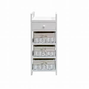 Petit Rangement Salle De Bain : firenza petit meuble de salle de bain l 30 cm laqu ~ Dailycaller-alerts.com Idées de Décoration
