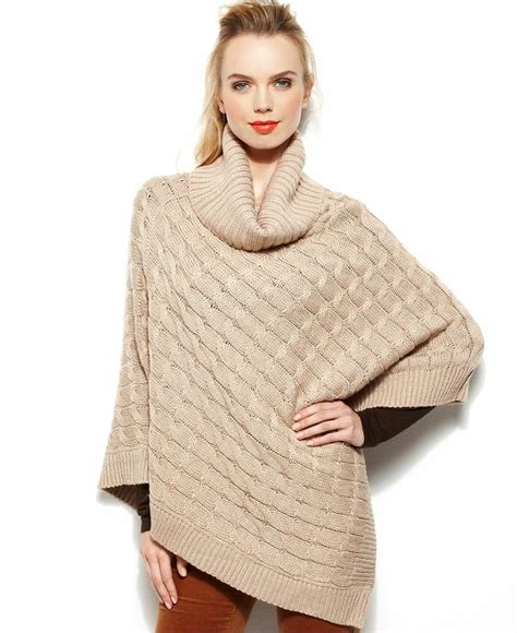steve madden wrap cable knit lurex 174 poncho handbags accessories macy s ponchos shawls