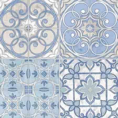 ke29950 blue white and beige mosaic tile wallpaper