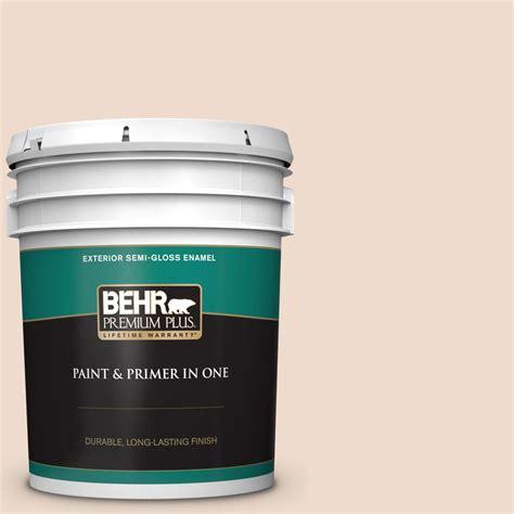 behr premium plus 5 gal 290e 1 weathered sandstone gloss enamel exterior paint and primer