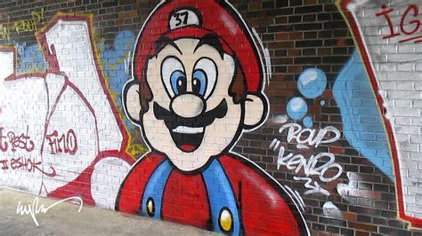 Graffiti Mario : Berok Graffiti Mural Profesional En Barcelona