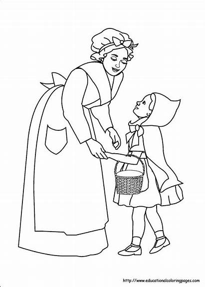 Riding Pages Hood Coloring Printable Sheets Site