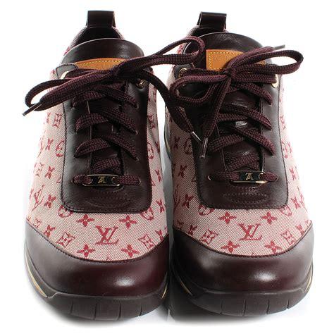 louis vuitton mini lin monogram sneakers tennis shoes  cherry