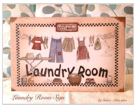 jual hiasan dinding wall decor laundry room sign murah
