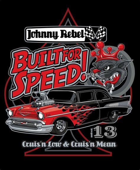 johnny rebel  shirt design built  speed  russellink