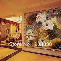 magnificent artistic wall art Magnificent Flowers Glass Mosaic Tile Modern Art Wall ...