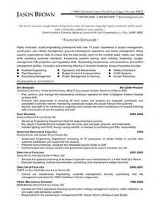 Resume Helper Template Link To An Facilities Manager Resume