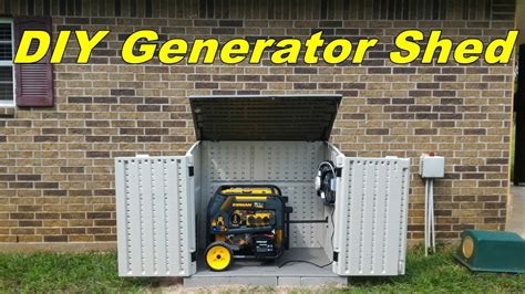 Storage Shed For Portable Generator by Diy Generator Shed