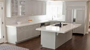 white kitchen counter tops, Glossy With White Kitchen