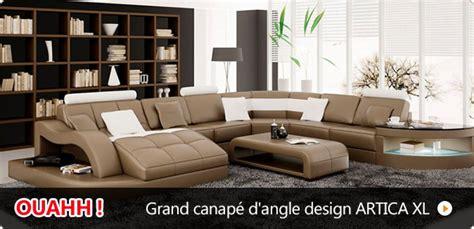 canape cuir panoramique pas cher photos canapé d 39 angle cuir design pas cher