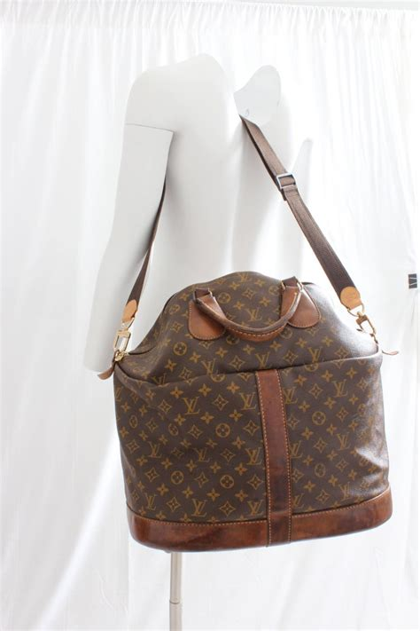 louis vuitton large steamer bag keepall monogram travel tote french company   sale  stdibs