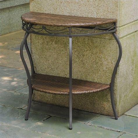 half moon patio table in antique brown 4113 tbl abn